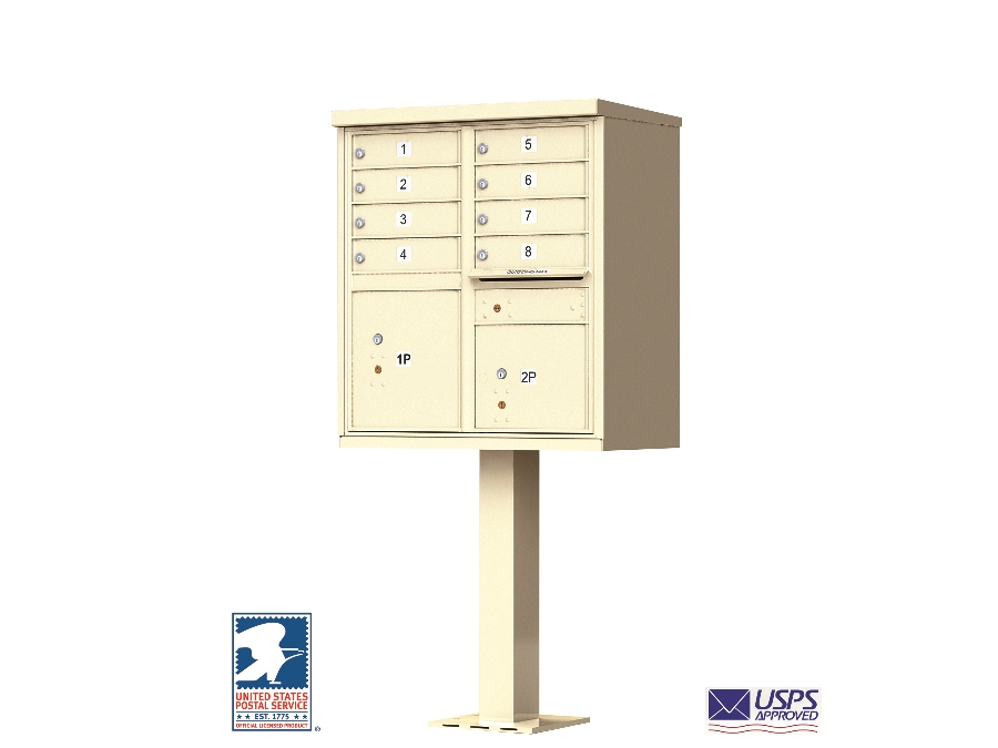 Cbu 8 tenant boxes cluster mailbox in sandstone for Auth florence