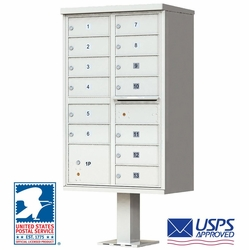 CBU - 13 Tenant Boxes Cluster Mailbox In Postal Grey