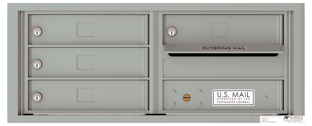 Auth Florence Mailboxes 4C03D-04 Versatile Front Loading Fully ...
