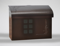 E7 Wall Mount Mailbox - Bronze Plated