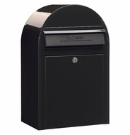 Black Modern Lockable Mailbox