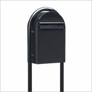 Black Modern Lockable Mailbox and Post Package