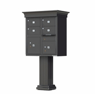 Decorative Crown Cap 4 Door CBU Mailboxes with Extra Large Tenant Doors Bronze
