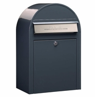 Grey Modern Lockable Mailbox with Stainless Steel Slot