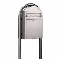 Stainless Steel Modern Lockable Mailbox and Post Package