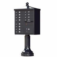 12-Door USPS Traditional Black Cluster Mailbox Package