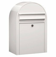 White Modern Lockable Mailbox