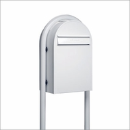 White Modern Lockable Mailbox and Post Package
