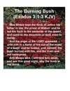 The Burning Bush Exodus 3: 1-3 KJV