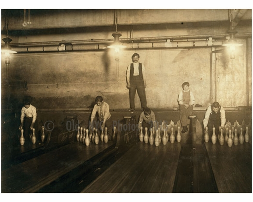1 AM Pin boys working in a bowling alley Brooklyn NY