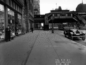 14th Street station of the 6th Avenue elevated, 1916, showing sidewalk vault lights - Greenwich Village - New York, NY