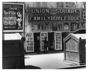 14th Street - Union Square Family Burlesque - Greenwich Village - Manhattan, NY 1916