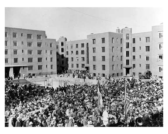 1937 opening of affordable housing in harlem manhattan nyc