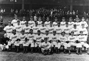 1941 National Champion Brooklyn Dodgers at Ebbets Field, 1941