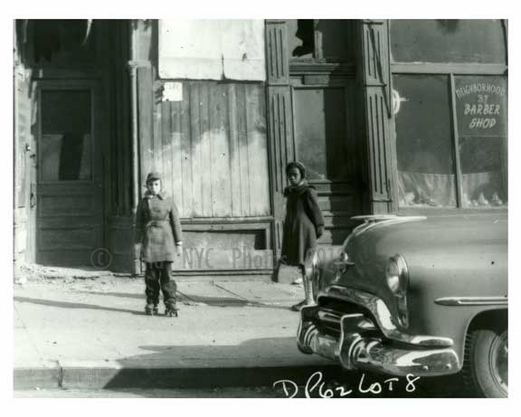 1960 Kids on the sidewalk - Brownsville Brooklyn NY