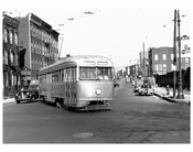 20th St & North 7 - Trolley passing 1950