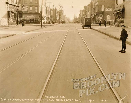 Tompkins Avenue looking south to Gates Avenue, 1923