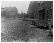 27-60 42nd St looking west Queensboro Subway Railroad Duct Line Manhattan NYC 1916