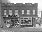 2768 and 2766 Pitkin Avenue at southeast corner Crescent Street, 1940