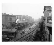 3rd Ave elevated train line over Bowery & Grand Street - Little Italy - Downtown Manhattan