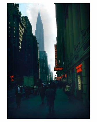 42nd Street looking east with the Chrysler Building in the background 1958 Midtown Manhattan