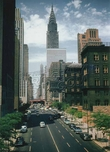 42nd Street, looking west, to Chrysler Building, 1955 Midtown Manhattan