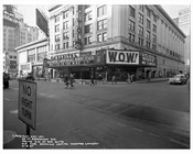 50th Street & Broadway in front of Capitol Theatre 1957  - Midtown Manhattan - New York, NY