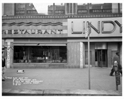 50th Street & Broadway in front of Lindy's Restaurant 1957 - Midtown Manhattan - New York, NY