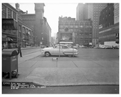 52nd Street & Broadway in front of Kinney Parking 1957  - Midtown Manhattan - New York, NY
