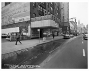 52nd Street & Broadway in front of Roseland Ballroom 1957  - Midtown Manhattan - New York, NY
