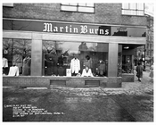 59th Street & Broadway in front of Martin Burns Storefront 1957  - Midtown Manhattan - New York, NY