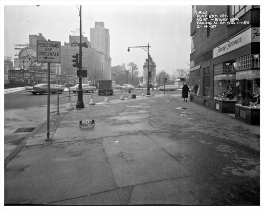 59th street overlooking columbus circle 1957 manhattan old for 10 columbus circle 4th floor new york ny 10019