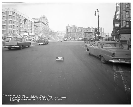 65th Street Broadway Site Of Lincoln Center 1957
