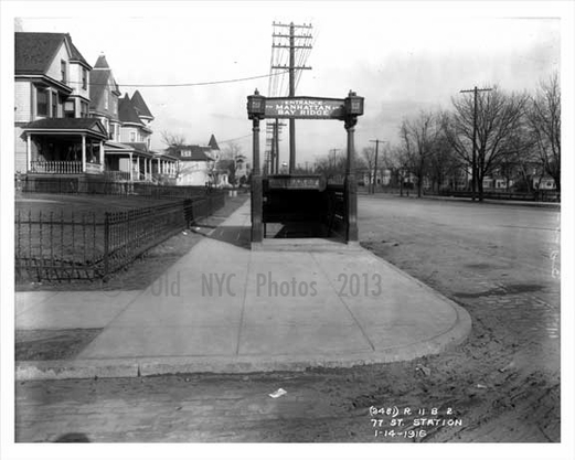 77 Street Subway entrance  Bay Ridge Brooklyn 1916