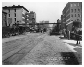 7th Avenue - between 17th & 18th Streets with a Huge Coca-Cola Billboard in the background 1917 Chelsea NYC