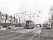 86th Street, near 14th Avenue, 1949, Dyker Heights Park on right