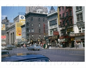 8th Ave north facing West 40th St Bars Manhattan 1965