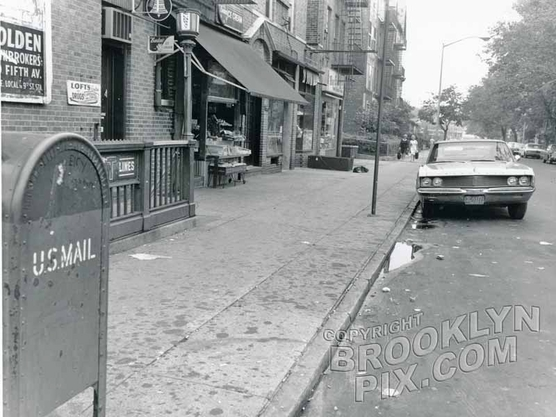 95th Street subway entrance at far left, 1968