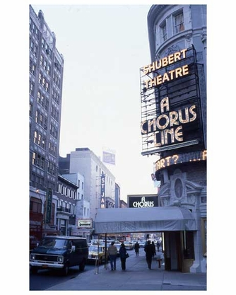 """A Chorus Line"" at the Shubert Theater - Theater District Manhattan 1970s"