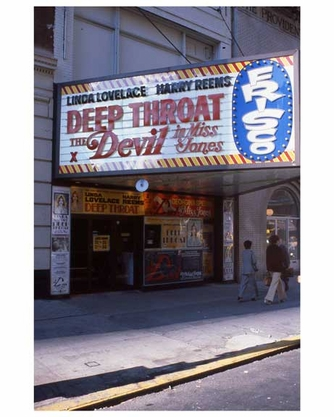 Adult theaters near 1970s Times Square