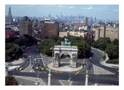 Aerial View looking north from Grand Army Plaza toward Manhattan' sskyline 1974