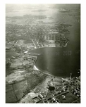 Aerial view of Queens Park, the Cross Island & the Whitestone Bridge - NYC