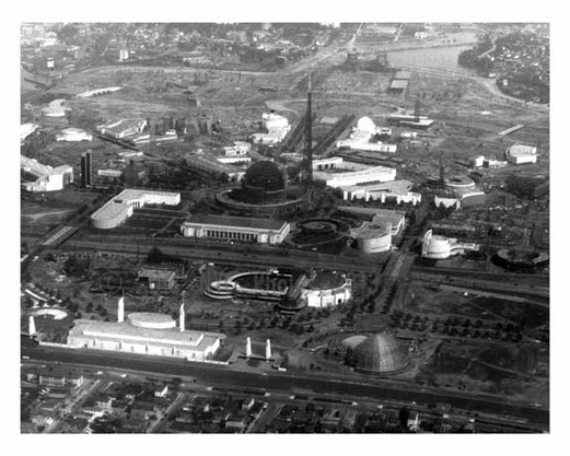 Aerial View of the 1939 Worlds Fair - Flushing - Queens - NYC