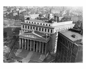 Aerial view of the newly constructed courthouse on Centre StreetCivic Center - Downtown Manhattan   1927 NYC