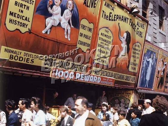 """Alive, Alive""_Coney Island freak show, 1943"
