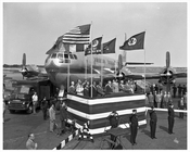 American Overseas Airplane at Idlewild Airport 1949