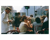 An outdoor restaurant near Waverly theater - Greenwich Village 1965 Downtown Manhattan
