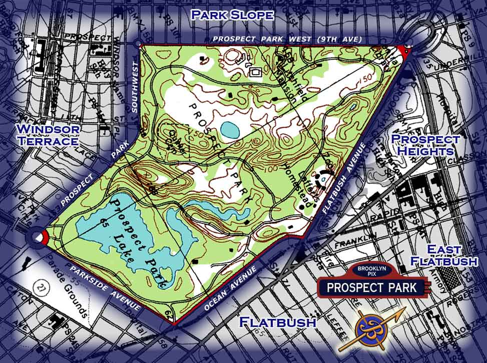Area map for Prospect Park Images and Photography at Old ...