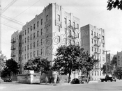 Art Deco apartment house southwast corner Avenue P and West 4th Street, 1935
