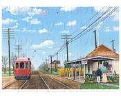 Avenue U station on the Brighton Line looking north (watercolor) 1901